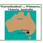 map of Australia showing location of Warracknabeal